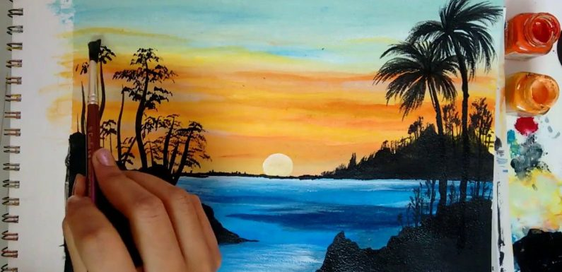How to Create Beautiful Artwork using Watercolors and Canvas for Painting?